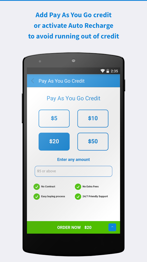 add pay as you go credit