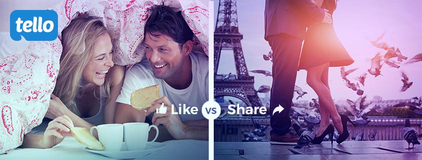 tello like vs share
