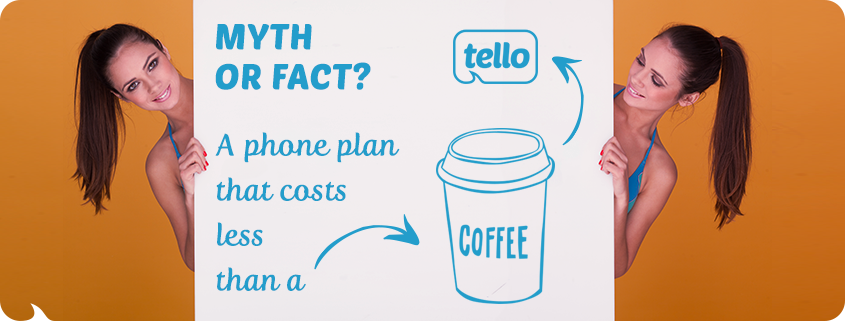 a phone plan that costs just like a coffee