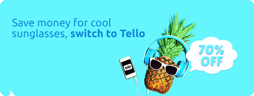 70% Off to join Tello