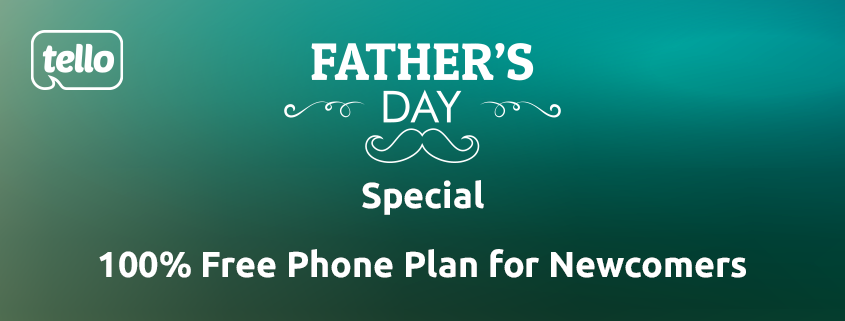 100% free phone plan for father's day