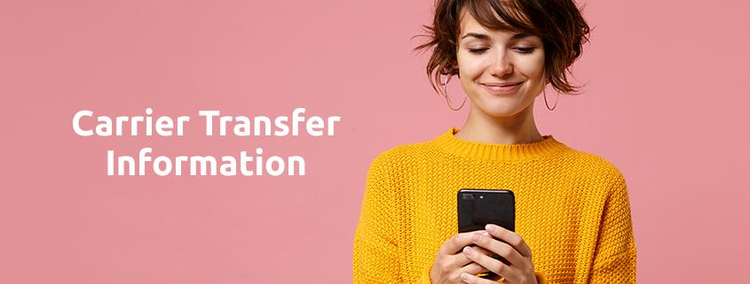 carrier transfer information